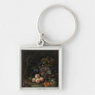 Still Life with Fruit, Foliage and Insects, c.1669 Keychain
