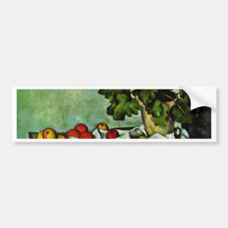 Still Life With Fruit Geraniums Stock Car Bumper Sticker
