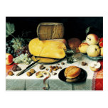 Still Life with Fruit, Nuts and Cheese Postcard