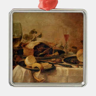 Still Life with Fruit Pie, 1635 Metal Ornament