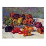 Still Life with Fruit - Pierre-Auguste Renoir Postcard