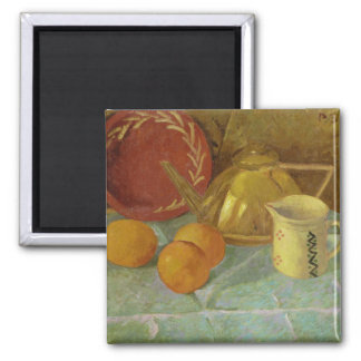 Still Life with Fruit & Pitcher or 2 Inch Square Magnet