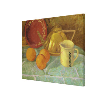 Still Life with Fruit & Pitcher or Canvas Print