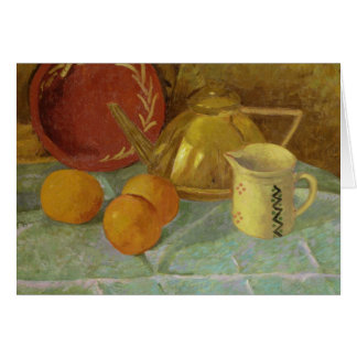 Still Life with Fruit & Pitcher or Card