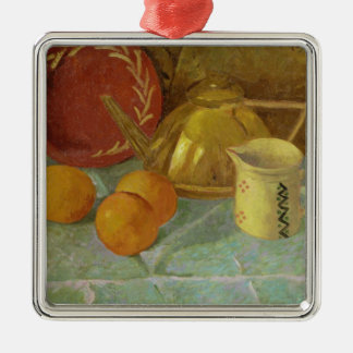 Still Life with Fruit & Pitcher or Metal Ornament