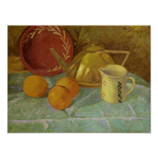 Still Life with Fruit & Pitcher or Poster
