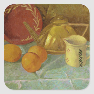 Still Life with Fruit & Pitcher or Square Sticker