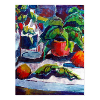 Still life with fruit postcards