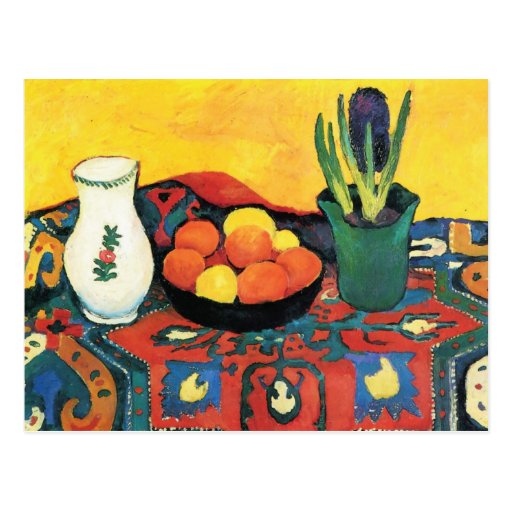Still life with Fruits by August Macke Postcard