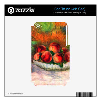 Still life with fruits by Pierre Renoir Decals For iPod Touch 4G
