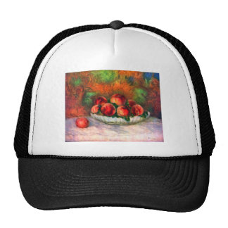 Still life with fruits by Pierre Renoir Trucker Hat