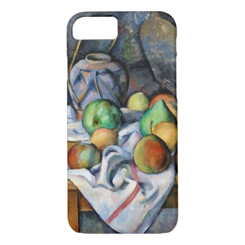 Still Life with Fruits, Paul Cezanne Phone Case
