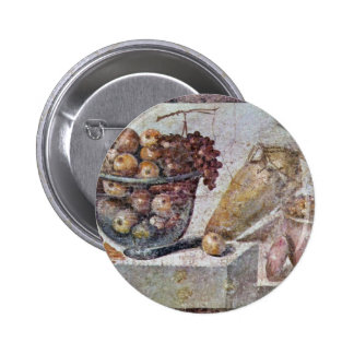 Still Life With Glass Bowl Of Fruit And Vases Pinback Button