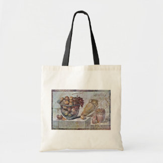 Still Life With Glass Bowl Of Fruit And Vases, Tote Bag