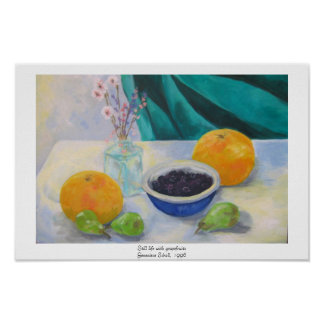 Still Life With Grapefruits Poster