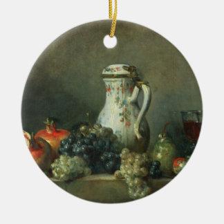 Still Life with Grapes and Pomegranates, 1763 (oil Ceramic Ornament