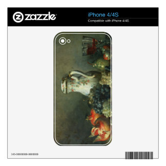 Still Life with Grapes and Pomegranates, 1763 (oil iPhone 4 Decals