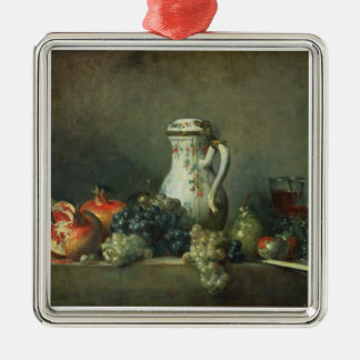 Still Life with Grapes and Pomegranates, 1763 (oil Metal Ornament