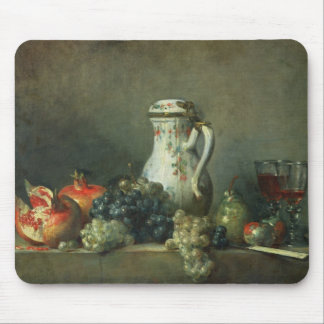 Still Life with Grapes and Pomegranates, 1763 (oil Mouse Pad