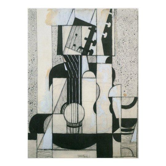 Still Life with guitar by Juan Gris Poster