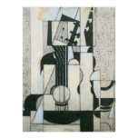 Still Life with guitar by Juan Gris Posters