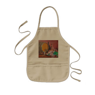 Still life with ham kids' apron