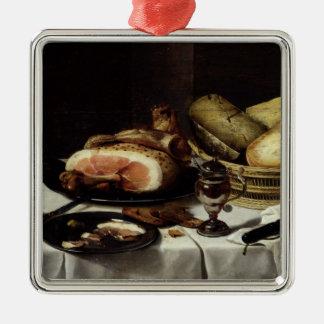 Still Life with Ham Metal Ornament