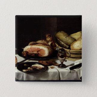 Still Life with Ham Pinback Button