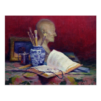 Still Life with Head of Voltaire Postcard