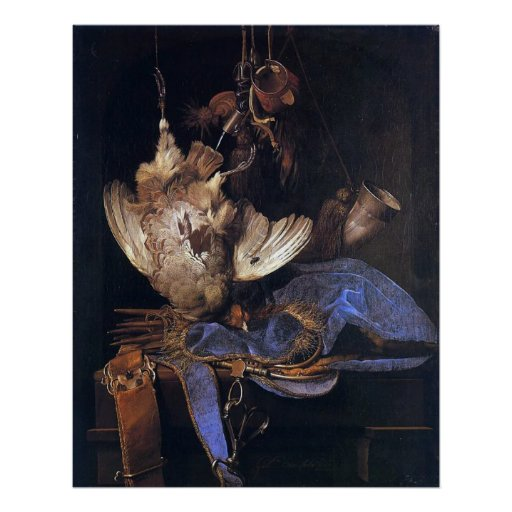 Still Life with Hunting Equipment Poster