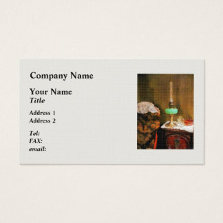 Still Life With Hurricane Lamp Business Card