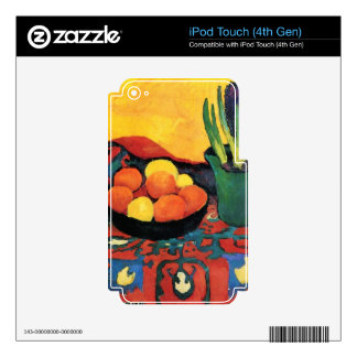 Still Life with Hyacinthe by August Macke iPod Touch 4G Decal