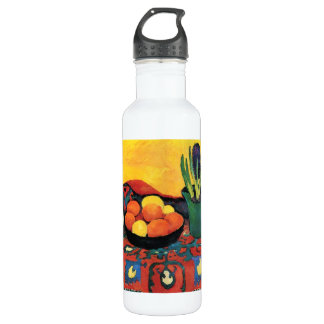 Still Life with Hyacinthe by August Macke Stainless Steel Water Bottle