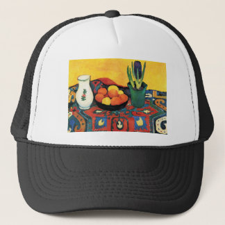 Still Life with Hyacinthe by August Macke Trucker Hat