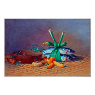 Still Life with Ilima Lei, Calabash and Moi Poster