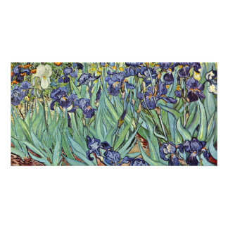Still Life With Irises By Vincent Van Gogh Photo Card Template