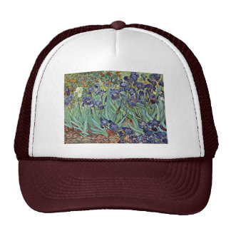 Still Life With Irises By Vincent Van Gogh Trucker Hat