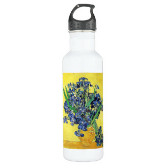 Still Life with Irises Vincent van Gogh 24oz Water Bottle