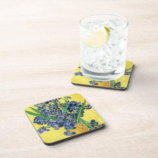Still Life with Irises Vincent van Gogh Beverage Coaster