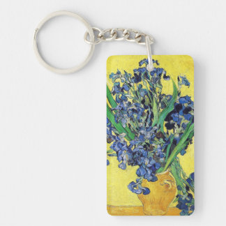 Still Life with Irises Vincent van Gogh Double-Sided Rectangular Acrylic Keychain