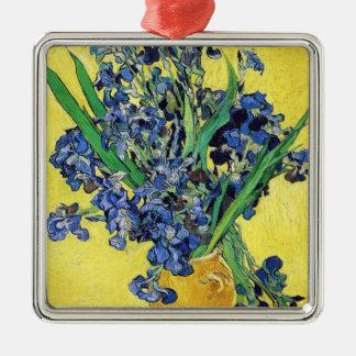 Still Life with Irises Vincent van Gogh Metal Ornament