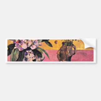 Still Life With Japanese Woodblock By Gauguin Paul Car Bumper Sticker