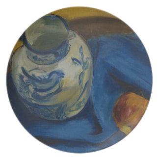 Still Life with Jug & Apple Melamine Plate