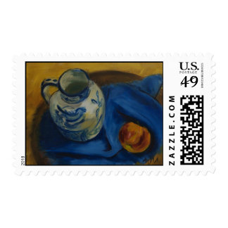 Still Life with Jug & Apple Postage Stamp