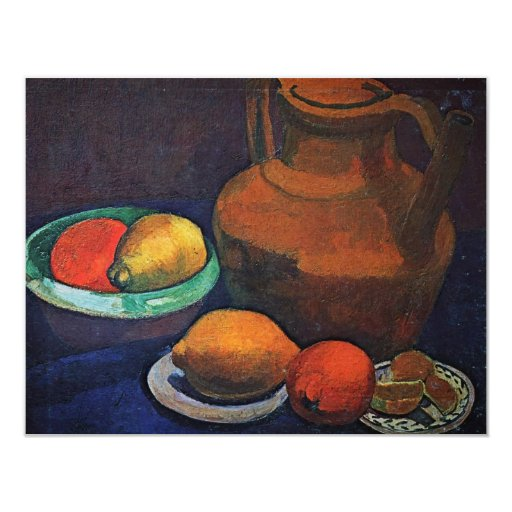 Still Life With Jug By Modersohn-Becker Paula 4.25x5.5 Paper Invitation Card