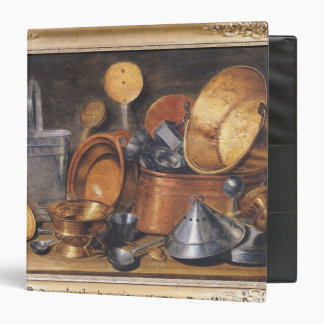Still Life with Kitchen Utensils 3 Ring Binder