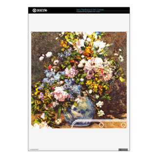 Still life with large vase by Pierre Renoir PS3 Slim Console Decal