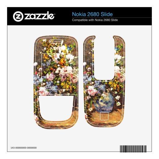 Still life with large vase by Pierre Renoir Nokia 2680 Slide Skin
