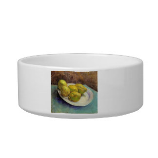 Still Life with Lemons on a Plate by Van Gogh Cat Food Bowls