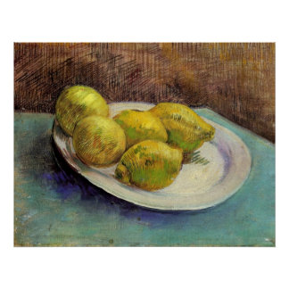 Still Life with Lemons on a Plate by Van Gogh Poster
